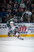 KELOWNA, CANADA - JANUARY 23: Tyson Baillie #24 of Kelowna Rockets skates against the Everett Silvertips on January 23, 2015 at Prospera Place in Kelowna, British Columbia, Canada.  (Photo by Marissa Baecker/Shoot the Breeze)  *** Local Caption *** Tyson Baillie;