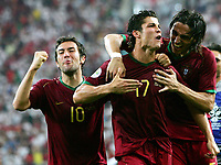 Jubel Cristiano Ronaldo Portugal <br /> Fussball WM 2006 Viertelfinale England - Portugal 1:3 i.E.<br /> <br />  Norway only