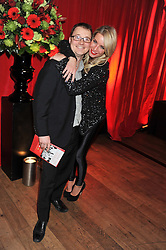 DENISE VAN OUTEN and RICHARD ALLSOP who paid £3000 to appear in Hello! with Denise Van Outen at One Night Changes Everything - a fundraising evening for the 2013 Comic Relief Campaign held at The Royal Opera House, London on 28th February 2013.