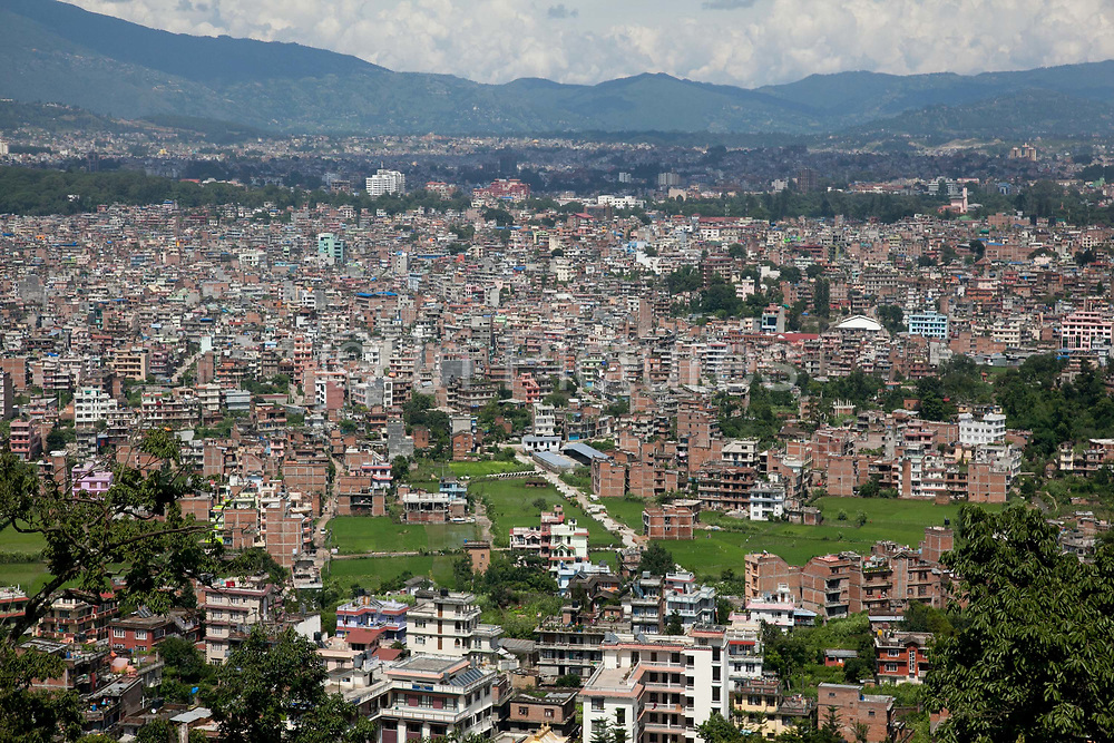 Kathmandu Valley seen from the Swayambhunath temple complex, also called the Monkey Temple.