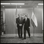 Emomali Rahmon, the  President of Tajikistan. with United Nations  Secretary General Ban Ki Moon.