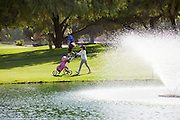 Golfer at City of Cerritos Iron-Wood Golf Course