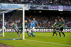 October 29, 2017 - Napoli, Napoli, Italy - Naples - Italy 29/10/2017. DRIES MERTENS of S.S.C. NAPOLI  scores a goal during match between S.S.C. NAPOLI and SASSUOLO at Stadio San Paolo of Naples. (Credit Image: © Emanuele Sessa/Pacific Press via ZUMA Wire)