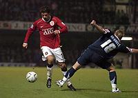 Photo: Olly Greenwood.<br />Southend United v Manchester United. Carling Cup. 07/11/2006. Manchester United's Cristiano Ronaldo goes round Southend's Steve Hammell