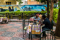 Outdoor dining at Arba Minch Tourist Hotel, Arba Minch, Ethiopia.
