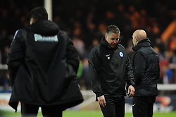 Peterborough United Manager, Darren Ferguson (middle) cuts a dejected figure as his team lose to Bristol City 1 - 2  - Photo mandatory by-line: Dougie Allward/JMP - Mobile: 07966 386802 11/03/2014 - SPORT - FOOTBALL - Peterborough - London Road Stadium - Peterborough United v Bristol City - Sky Bet League One