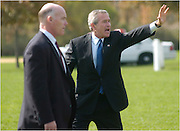 Recently appointed Acting Director of the United States Secret Service, Joseph Clancy, left, is photographed in this 2004 photograph with President George Bush during a campaign trip to Evesham, N.J., Saturday,  September 18, 2004.  Clancy replaced Julia Pierson, who resigned after several incidents of lapsed security at the White House.