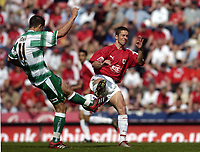 Photo: Jonathan Butler.<br /> Bristol City v Yeovil Town. Coca Cola League 1. 14/04/2007.<br /> Alex Russell of Bristol and Chris Cohen compete for the ball.