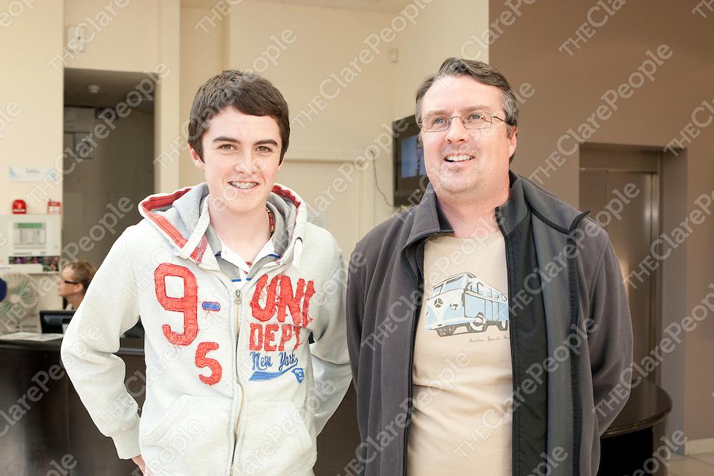 Adan & Jarlath Walsh pictured at Des Bishop show in Glor in Ennis Co.Clare.<br /> Pictured Credit Brian Gavin Press 22