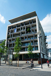 Upmarket apartments  in Rheinauhafen new commercial and residential district in Cologne Germany