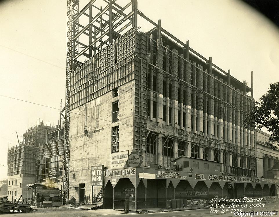 11/15/1925 Construction of the El Capitan Theater