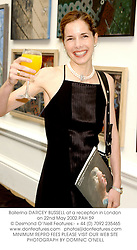 Ballerina DARCEY BUSSELL at a reception in London on 22nd May 2002.PAH 59