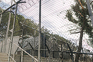One of the security fences inside the Moria refugee camp on the Greek island of Lesvos.