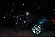 PETER STRINGFELLOW, , Conservative Party Black and White Ball fundraiser 2015, Grosvenor House. Park Lane, London. 9 February 2015