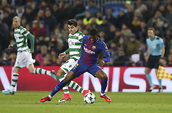 December 5, 2017 - Na - Barcelona, 05/12/2017 - FC Barcelona received the Sporting CP in the Camp Nou stadium tonight, in the game to count for the 6th round of Group D of the 2017/18 Champions League. Sporting lost 2-0 and is outside the Champions League Acuna and Nelson Semedo  (Credit Image: © Atlantico Press via ZUMA Wire)