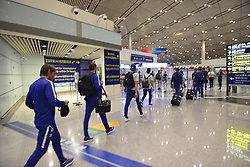 July 19, 2017 - Beijin, Beijin, China - Beijing,CHINA-July 19 2017: (EDITORIAL USE ONLY. CHINA OUT) ..Chelsea players arrive in Beijing, July 19th, 2017. Chelsea will compete with Arsenal at London Derby in Beijing National Stadium on July 22nd, 2017. (Credit Image: © SIPA Asia via ZUMA Wire)