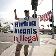 Members of the San Diego Minute Men (SDMM) demonstrate in San Diego near a site used by day laborers. Please contact Todd Bigelow directly with your licensing requests.
