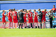 Play stops and Barnsley players take refreshments during the EFL Sky Bet Championship match between Queens Park Rangers and Barnsley at the Kiyan Prince Foundation Stadium, London, England on 20 June 2020.