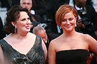 Actress Phyllis Smith and Amy Poehler at the gala screening for the film Inside Out at the 68th Cannes Film Festival, Monday May 18th 2015, Cannes, France