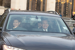 Lady Sarah Chatto and husband Daniel Chatto arrive for the Queen's Christmas lunch at Buckingham Palace, London.