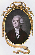Antoine Laurent Lavoisier (1743-1794)  French chemist. Among other achievements, Lavoisier  was one of the discoverers of oxygen, and established the laws of chemical combination. He improved the manufacture of gunpowder when director of government powder mills. He was guillotined during the French Revolution. From 'The Temple of Flora' by Robert John Thornton. (London, 1801).