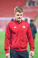 Max Power of Sunderland (27) arrives at the ground during the EFL Sky Bet League 1 match between Barnsley and Sunderland at Oakwell, Barnsley, England on 12 March 2019.