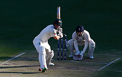 Australia's Shaun Marsh plays a shot as Jonny Bairstow looks during day two of the Ashes Test match at The Gabba, Brisbane.