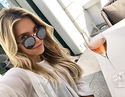 """Sylvie Meis releases a photo on Instagram with the following caption: """"\ud83d\udc95Happy to spend the weekend at the @weissenhaus #spa #relaxing #escape #weissenhaus #ostsee  #happyweekend \ud83e\udd42"""". Photo Credit: Instagram *** No USA Distribution *** For Editorial Use Only *** Not to be Published in Books or Photo Books ***  Please note: Fees charged by the agency are for the agency's services only, and do not, nor are they intended to, convey to the user any ownership of Copyright or License in the material. The agency does not claim any ownership including but not limited to Copyright or License in the attached material. By publishing this material you expressly agree to indemnify and to hold the agency and its directors, shareholders and employees harmless from any loss, claims, damages, demands, expenses (including legal fees), or any causes of action or allegation against the agency arising out of or connected in any way with publication of the material."""