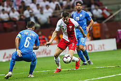 June 10, 2019 - Warsaw, Poland - Polish players Robert Lewandowski (C) control  the ball during the UEFA Euro 2020 qualifier Group G football match Poland against Israel on June 10, 2019 in Warsaw, Poland. (Credit Image: © Foto Olimpik/NurPhoto via ZUMA Press)