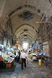 Market stalls in the Old City of Jerusalem. From a series of travel photos taken in Jerusalem and nearby areas. Photo date: Thursday, August 2, 2018. Photo credit should read: Richard Gray/EMPICS