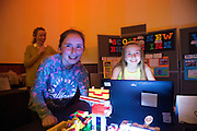 Bronagh Deeley and Emily Kenny from Scoil Bhride, New Inn  at the Galway Education centre's Junior First Lego League at the Radisson Blu hotel. Photo:Andrew Downes, xposure.