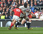 Twickenham. Great Britain.<br /> Maro ITOJE, breaking through the mid field during the RBS Six Nations Rugby, England vs Wales at the RFU Twickenham Stadium. England.<br /> <br /> Saturday  12/03/2016 <br /> <br /> [Mandatory Credit; Peter Spurrier/Intersport-images]