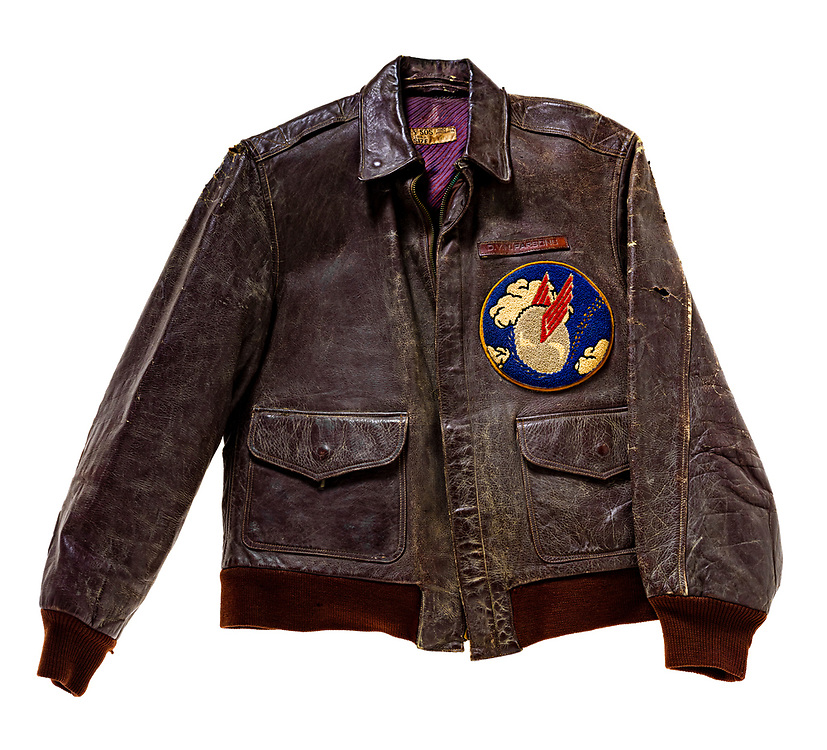 This jacket was made in Australia, probably of goat skin, and has the 41st Fighter Squadron patch, of the 35th Fighter Group.  They operated in the southwest Pacific, from early 1942 until the end of the war.  Participated in many battles in driving the Japanese forces back towards Japan.