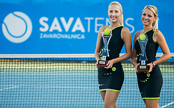 Winner's and Runner's up Trophies during ATP Challenger Zavarovalnica Sava Slovenia Open 2017, on August 12, 2017 in Sports centre, Portoroz/Portorose, Slovenia. Photo by Vid Ponikvar / Sportida