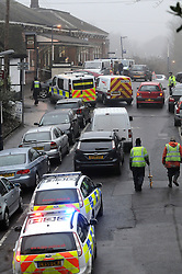 © under license to London News Pictures. 2010.12.30 The scene outside Chislehurst train station today. A man has been killed after being hit by a train at Chislehurst station this afternoon (Thursday) A police spokesman says he jumped in front of the fast train passing through. British Transport Police (BTP) and the Metropolitan police were called at 1.26pm. Picture credit should read Grant Falvey/LNP