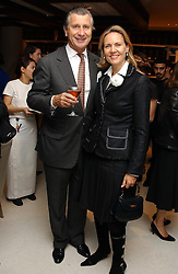 MR & MRS ARNAUD BAMBERGER at a dinner hosted by Cartier to celebrate the opening of the 2004 Frieze Art Fair, held at Yauacha 15-17 Broadwick Street, London W1 on 13th October 2004.<br />