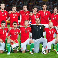 Team Hungary before the UEFA EURO 2012 Group E qualifier Hungary playing against Sweden in Budapest, Hungary on September 02, 2011. ATTILA VOLGYI