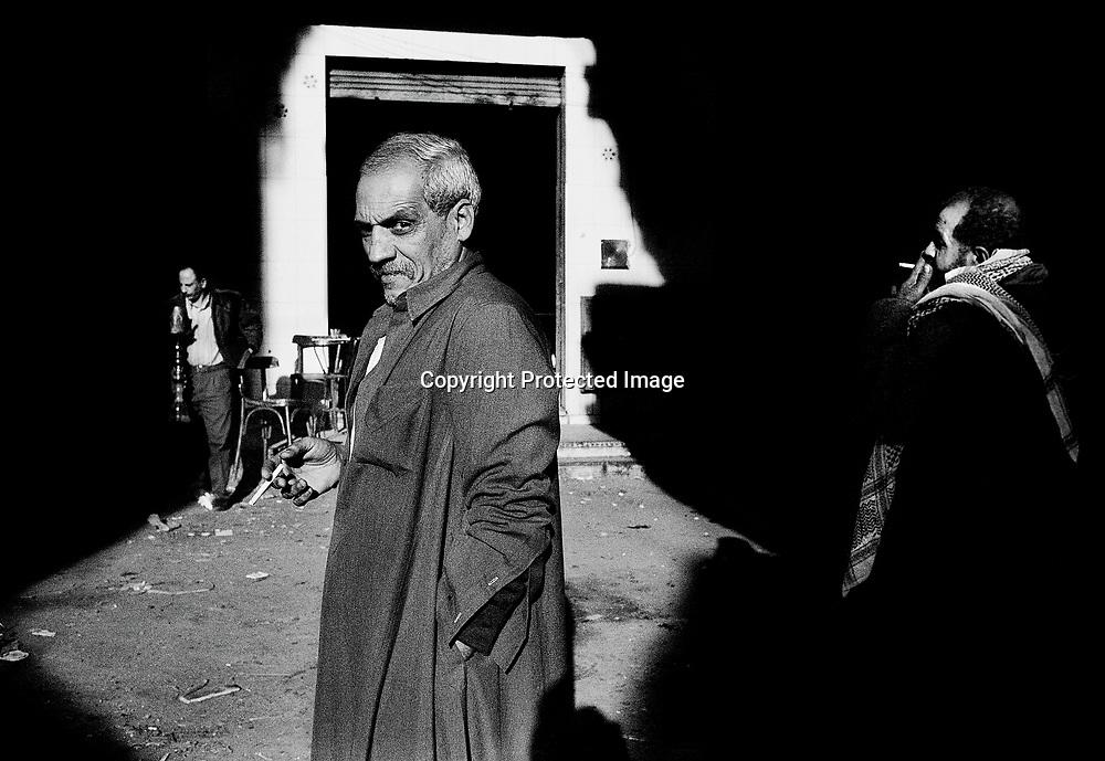 Manchiet Nasr. Men having a break