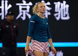 October 5, 2018 - Katerina Siniakova of the Czech Republic in action during her quarter-final match at the 2018 China Open WTA Premier Mandatory tennis tournament (Credit Image: © AFP7 via ZUMA Wire)