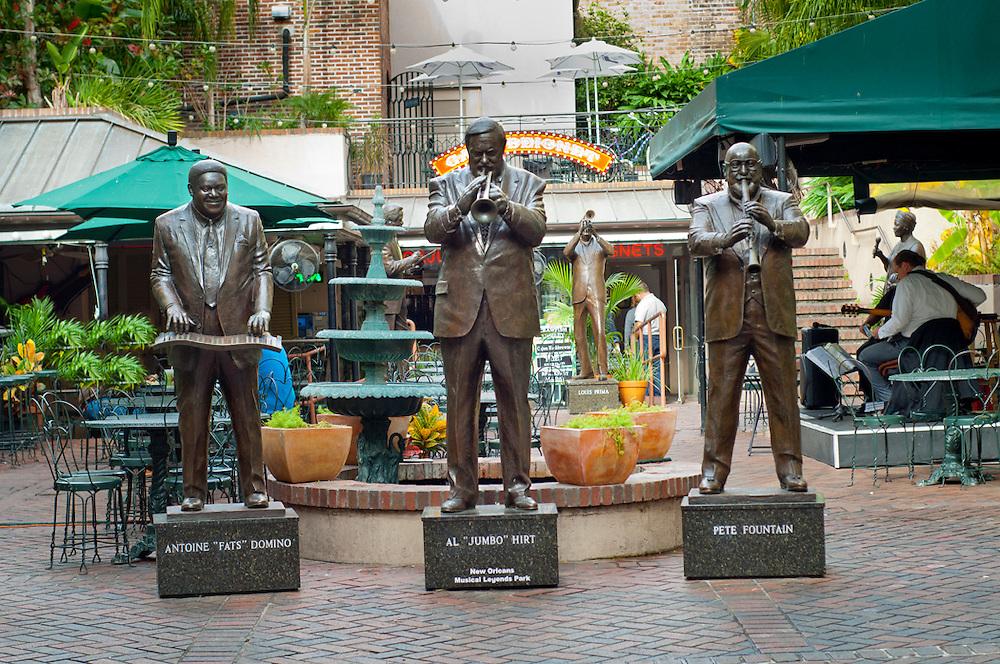 Louisiana, New Orleans, French Quarter, Bourbon Street, Musical Legends Park