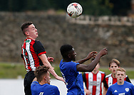 David Parkhouse of Sheffield Utd during the professional development league two match at the Bracken Moor Stadium, Stocksbridge. Picture date 21st August 2017. Picture credit should read: Simon Bellis/Sportimage