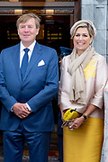 Koning Willem Alexander en koningin Maxima hebben een ontmoeting met de burgemeester van Cork tijdens de derde dag van het staatsbezoek aan Ierland. <br /> <br /> King Willem Alexander and Queen Maxima met with the mayor of Cork on the third day of the state visit to Ireland.