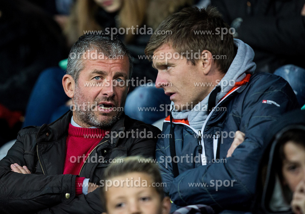 Dejan Djuranovic and Simon Rozman ahead to the football match between National teams of Slovenia and England in Round #3 of FIFA World Cup Russia 2018 Qualifier Group F, on October 11, 2016 in SRC Stozice, Ljubljana, Slovenia. Photo by Vid Ponikvar / Sportida