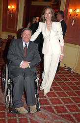The HON.MARK VESTEY and his wife  at a party to say goodbye to George Goring and hello to his son Jeremy Goring as MD of the Goring Hotel,Beeston Place, London on 2nd March 2005.<br /><br />NON EXCLUSIVE - WORLD RIGHTS