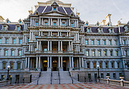 Washington, DC, USA — February 3, 2020. The Eisenhower Executive Office Building near the White House in Washington, DC.