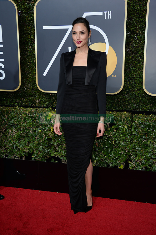 Gal Gadot attending the 75th Annual Golden Globes Awards held at the Beverly Hilton in Beverly Hills, in Los Angeles, CA, USA on January 7, 2018. Photo by Lionel Hahn/ABACAPRESS.COM