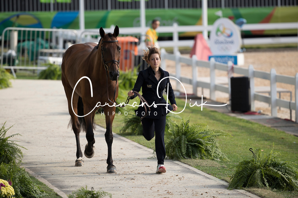 Schivo Arianne, ITA, Quefira De L Ormeau<br /> Final Horse inspection Eventing<br /> Olympic Games Rio 2016<br /> © Hippo Foto - Dirk Caremans<br /> 09/08/16