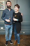 NO FEE PICTURES<br /> 12/4/18 Andy Keeling and Danielle Lynch, Harold Cross at the launch of Jenny Huston and Leah Hewson's jewellery and fine art collaboration, Edge Only x Leah Hewson at The Dean Dublin. Arthur Carron