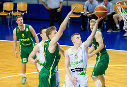 Luka Rupnik of Slovenia during basketball match between National teams of Slovenia and Lithuania in First Round of U20 Men European Championship Slovenia 2012, on July 14, 2012 in Domzale, Slovenia.  (Photo by Vid Ponikvar / Sportida.com)