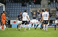 Tippeligaen, 22. runde.<br /> Viking FK - Strømsgodset.<br /> 01.09.2013 Viking Stadion, Stavanger.<br /> <br /> Foto. Simon Rogers, Digitalsport.<br /> <br /> Viking. King Osei Gyan, Patrik Ingelsten.<br /> Strømsgodset.